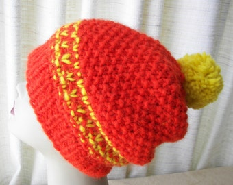 ARCTIC SUN Hand knit Chunky Beanie Hat ICELANDIC Sheep Lopi Wool yarn