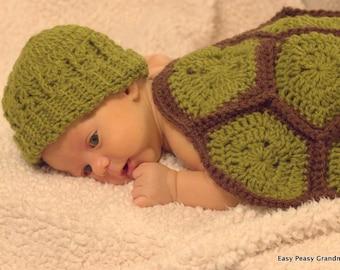 Crochet Pattern - hat, turtle,beanie, brim, all sizes, PDF file