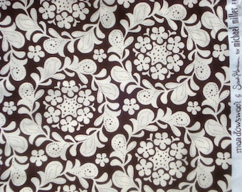 Clearance SALE : Meadowsweet Henna Garden brown Michael Miller Sandi Henderson fabric FQ or more