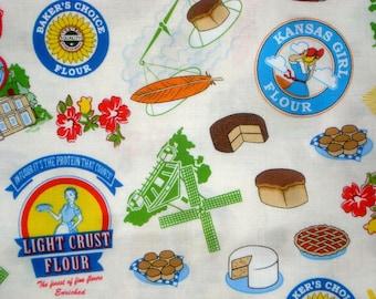 Floursack cream Whistler Studios Windham fabric FQ or more