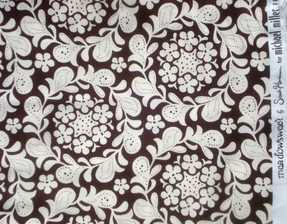 SALE : Meadowsweet Henna Garden brown Michael Miller Sandi Henderson fabric FQ or more