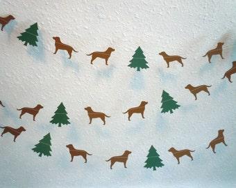 Labrador Christmas Paper Garland