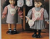 """Bunny Hop Pattern by Indygo Junction IJ470 UNCUT Doll Outfit for 17-19"""" Dolls, Vest, Jumpers, Blouse, Purse"""