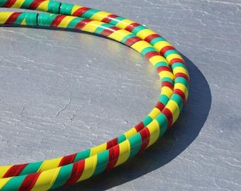 Collapsible Hoop style Rasta // travel hula hoop // folding hoop // hoop dance // polyethelyene hoop