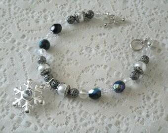 Winter Solstice Bracelet, wiccan jewelry pagan jewelry wicca jewelry goddess witch witchcraft magic handfasting wiccan bracelet