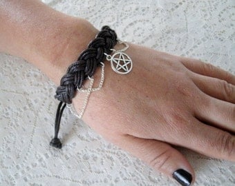 Pentacle Bracelet wiccan jewelry pagan jewelry wicca jewelry goddess jewelry witch witchcraft pentagram magic handfasting