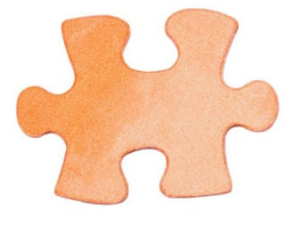 Copper Stamping Blank- Puzzle Piece  LARGE 1  1/4 inch 24 g. 2 pack-Stamping Blanks