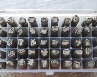State Metal Stamp Set- Design Stamp-ALL 50 STATES- 1/2 inch Size -Advantage Series Metal Stamp-Professional Quality-Guaranteed on Stainless