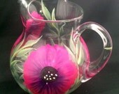 Hand Painted Acapulco Glass Pitchers