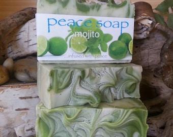 mojito peace soap