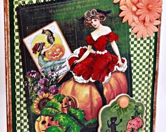 Halloween Card - All Hallows Eve - Vintage Inspired Halloween Card
