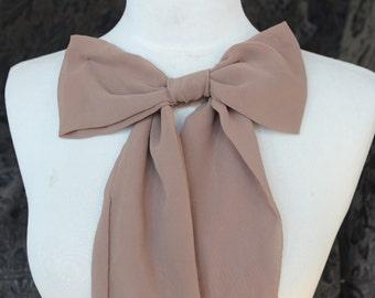 Cute chiffon bow cream  color
