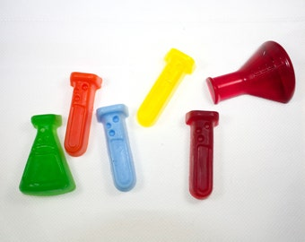 Science Lab Soaps - beaker, test tube, chemistry, physics, biology, science teacher, party favor, stocking stuffer, mad scientist, halloween