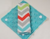 Infant Car Seat Strap Covers . Chevron Strap Covers. Reversible , Aqua Grey Red Green . Baby Shower Gift