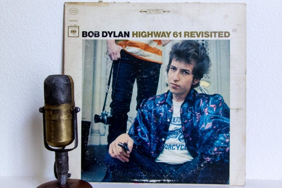 "Bob Dylan Vintage Vinyl LP Record Album 1960s Classic Rock LP, 'Bob Dylan' - ""Highway 61 Revisited""(1965 Stereo Label CS 9189 Columbia)"