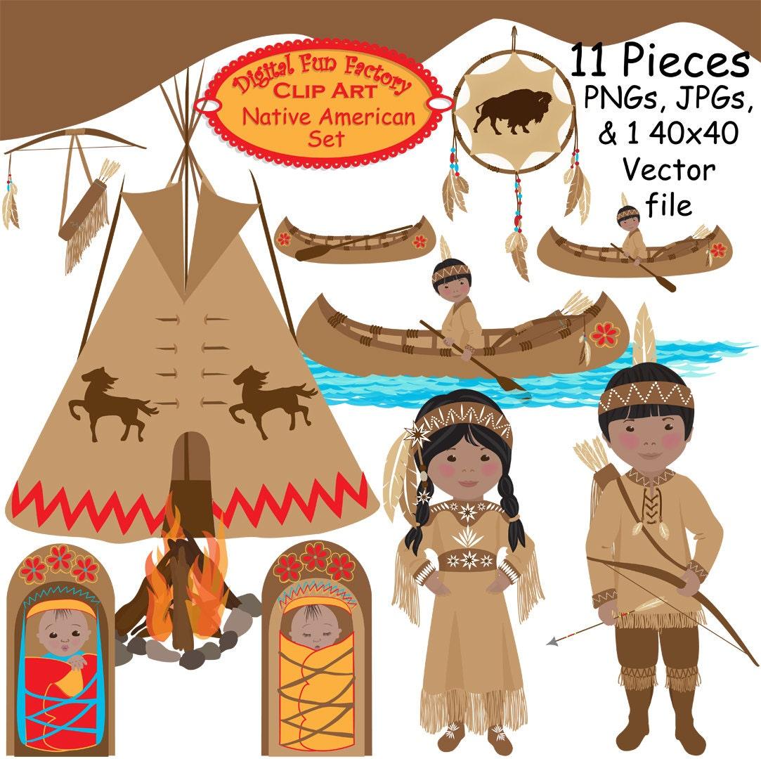 thanksgiving indian clip art - photo #34