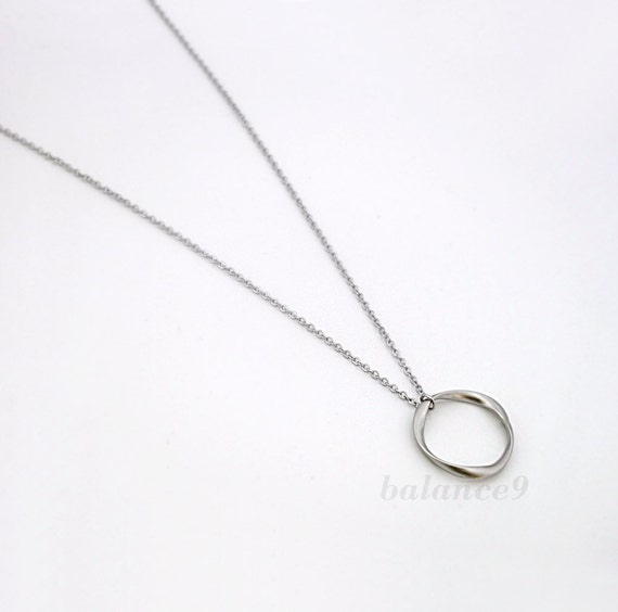 18th Birthday Cz T Bar Sterling Silver Heart Bracelet Can: Long Circle Necklace Twist Ring Charm Pendant Simple Gold