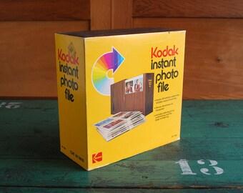 Kodak Instant Photo File Album, Photo Storage Box 1970's Photo Collectible, Photo Album