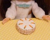 Miniature Dollhouse Carrot Cake Blythe, Barbie, Pullip, BJD 1:6 scale