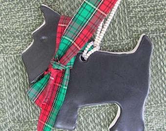 Ormament Scottie Dogs Ceramic  Handmade Gift Tags