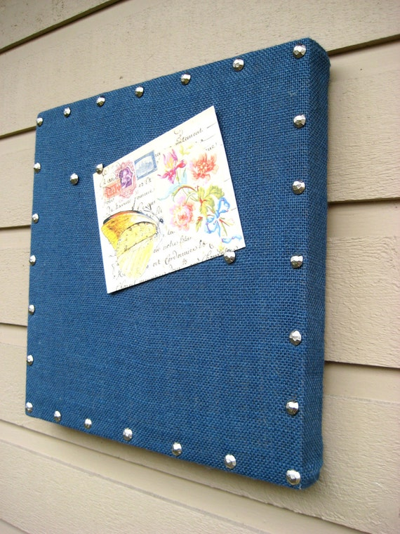 Bulletin Board Navy Blue nautical with silver by ...