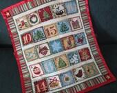 Advent Calendar, Traditional Christmas Decoration, Wallhanging, Christmas Countdown, Holiday Decor