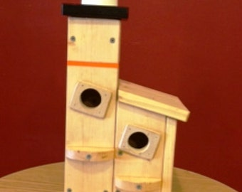 Lighthouse Birdhouse  BUILT TO ORDER