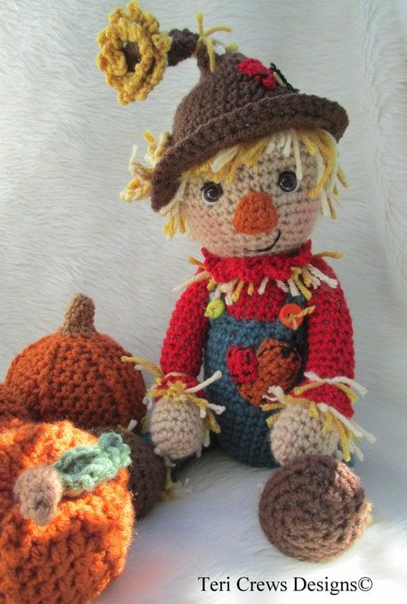 Crochet Pattern Scarecrow by Teri Crews instant download PDF format Crochet Toy Pattern