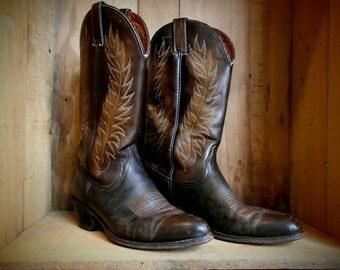 Vintage Wrangler Cowboy boots Size 9 1/2 to  10 Men's U.S.