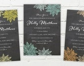 Printable Digital File - Simple Floral Chalkboard Invitation - Customizable - Shower, Party, Bridal, Wedding, Engagement, Baby, Birthday