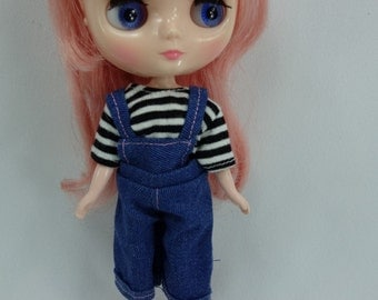 Handmade outfit overall jumpsuits for middie Blythe doll  A-3