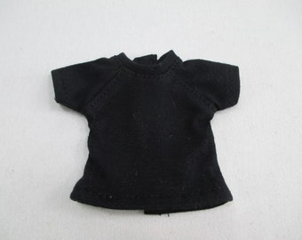 Handmade outfit for Blythe Dal doll black Tee T-50