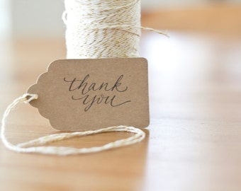 Thank You Rubber Stamp Handwritten Custom Calligraphy Thank You Stamp for Wedding Favors, Party Favors, Showers and Christmas