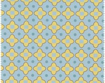 Blue and Yellow Geometric Metal Grid Flannel, 1 Yard