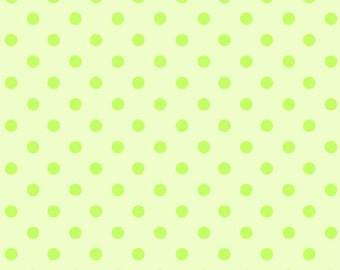 Two Tone Light and Dark Green Polka Dot Flannel, 1 Yard