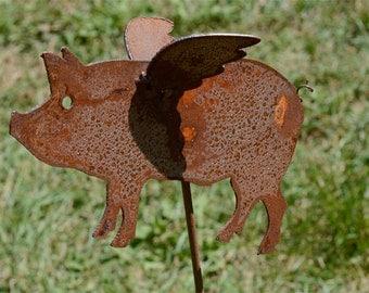 Flying Pig Garden Yard Art