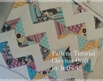 Super Simple Chevron Quilt Pattern Tutorial, pdf.