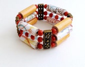 Santa Fe - Mixed Media Stretch Cord Bracelet
