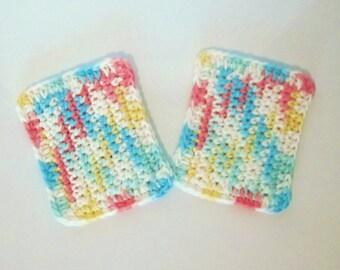 Crochet Cotton Sponges, Set of Two