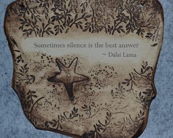 Inspirational Dalai Lama Quote Ceramic Plaque