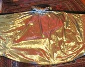 SALE  NOW  1400   Amazing 50s Gold Embroidered Black Velveteen Cape with Gold Tissue Lame Lining
