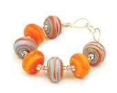 Swirl - Handmade Lampwork Glass Beads