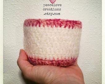 Crochet Felted Bowl