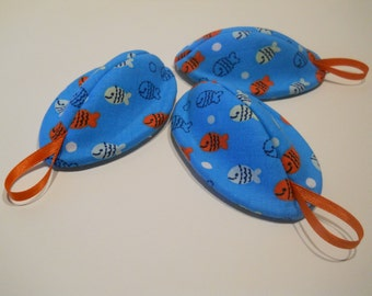 Pee Pod / Diaper Change Accessory / Diaper Bag Accessories / Boy Baby Shower Gift / Little Fish on Blue