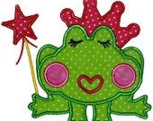 Machine Appliqué Princess Frog Shirt by Rockin' the Tutu - custom Machine Appliqué - Personalized Embroidery