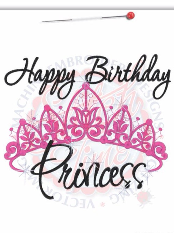 Happy Birthday Princess Crown Birthday Shirt Or Bodysuit