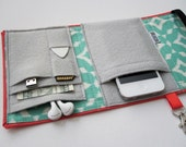 Nerd Herder gadget wallet in Ikat for iPhone 5, Android, iPhone 6, Samsung Galaxy S5, digital camera, smartphone, guitar picks