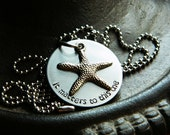 "Handstamped Charity Necklace - Starfish Rescue Poem - ""It Matters to This One"" Design for Reece's Rainbow Adoption Ministry - Special Needs"