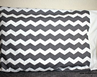 Standard Chevron Print Pillowcase - Choose Your Chevron Color - Grey - Yellow - Teal - Hot Pink - by Mommy Moxie on Etsy