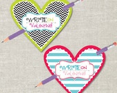 Write On Valentine's Day Pencil Tag (Printable Digital File) - Perfect for Class Party!